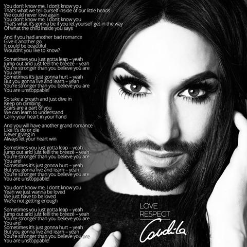 Confira a letra de You Are Unstoppable, de Conchita Wurst