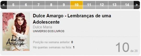 Dulce Amargo, livro da ex-RBD Dulce Maria, está entre os mais vendidos do Brasil