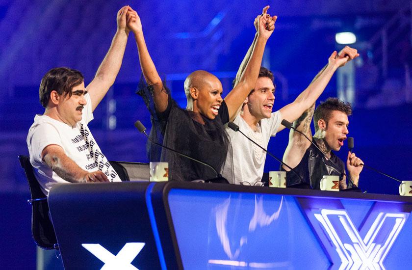 Elio, Skin, Mika e Fedez são os jurados da 9ª edoção do X Factor Itália