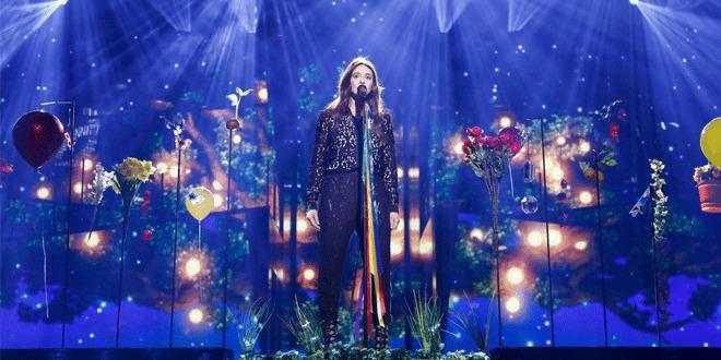 Francesca Michielin em seu segundo ensaio no Eurovision 2016