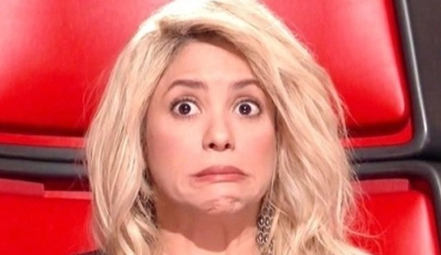 Shakira durante o The Voice