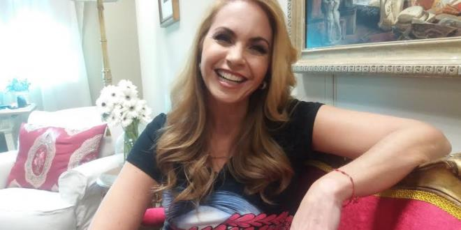 Lucero no seu camarim do SBT