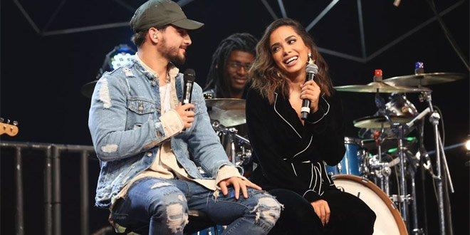 Maluma e Anitta gravaram uma participação no Altas Horas