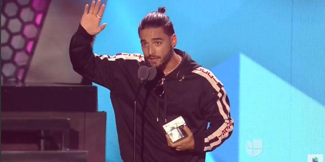 Maluma foi uma das estrelas dos Prêmios Juventud 2017