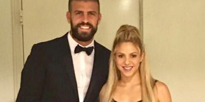Shakira e Pique no casamento de Messi