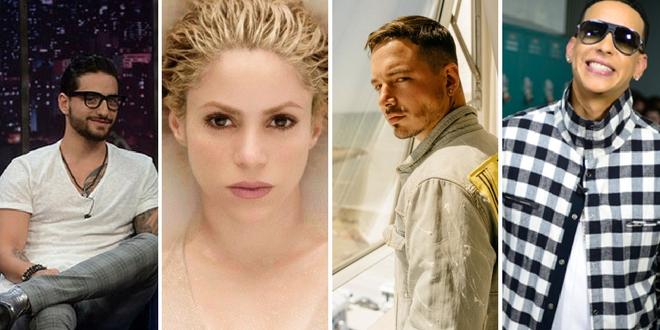 Maluma, Shakira, J Balvin e Daddy Yankee estão entre os indicados ao Grammy Latino 2018
