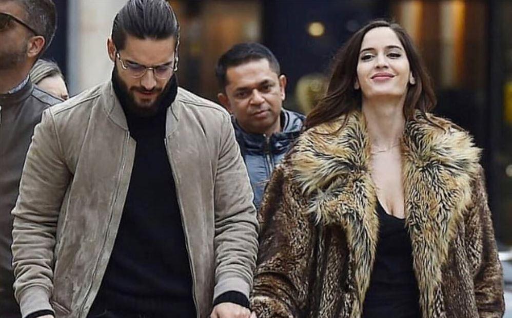 Maluma é flagrado com namorada na Itália