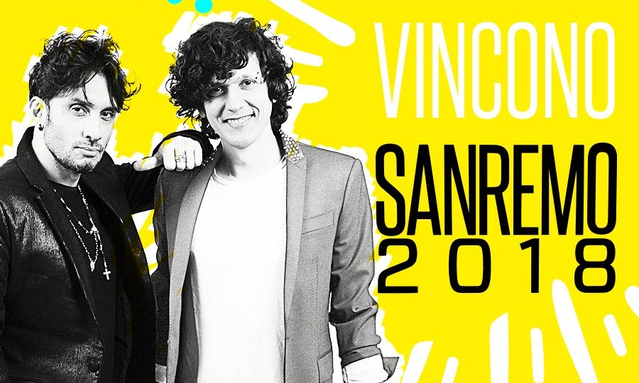 Fabrizio Moro e Ermal Meta venceram o Festival de Sanremo 2018