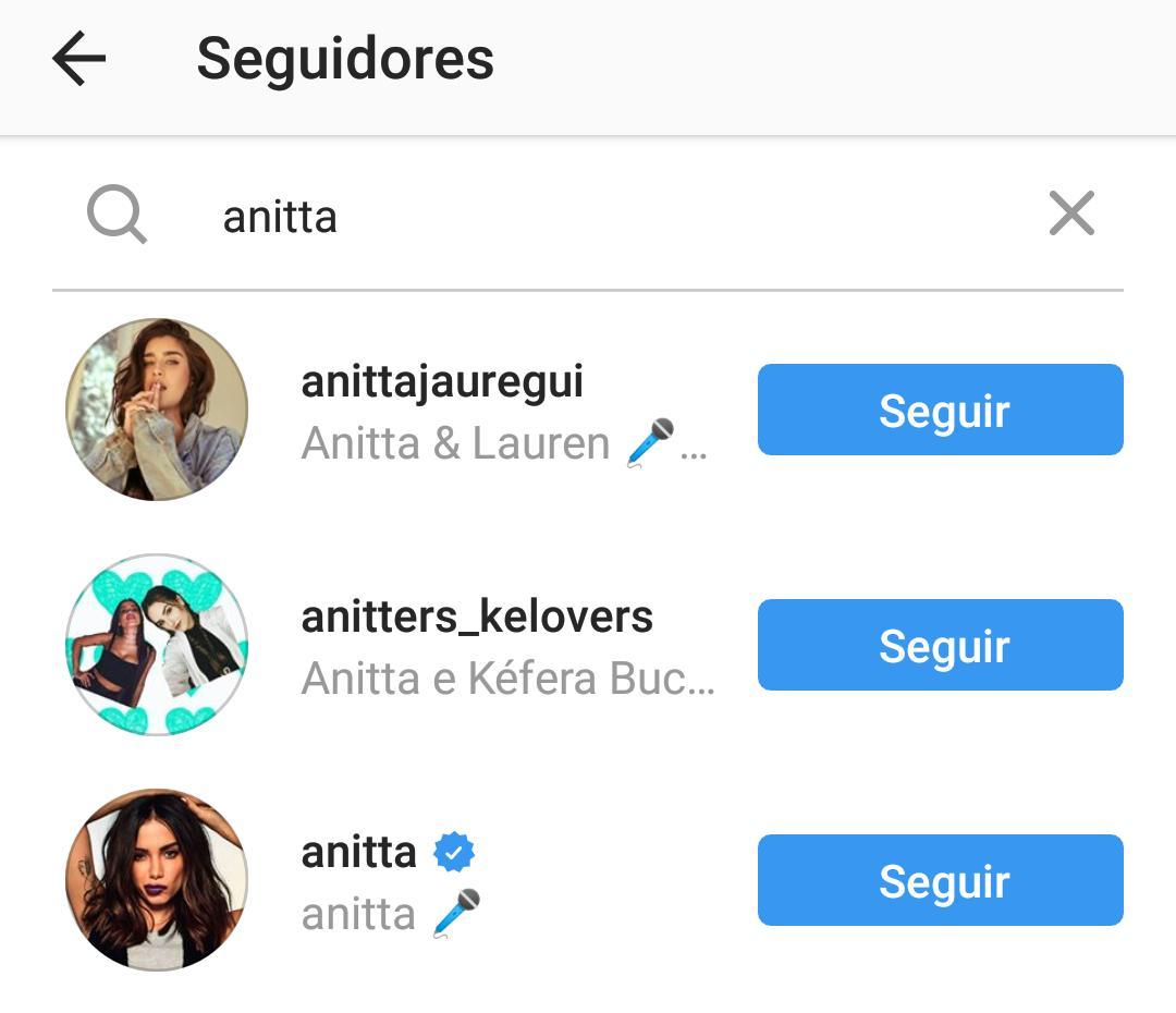 Anitta entre os seguidores de Maluma no Instagram