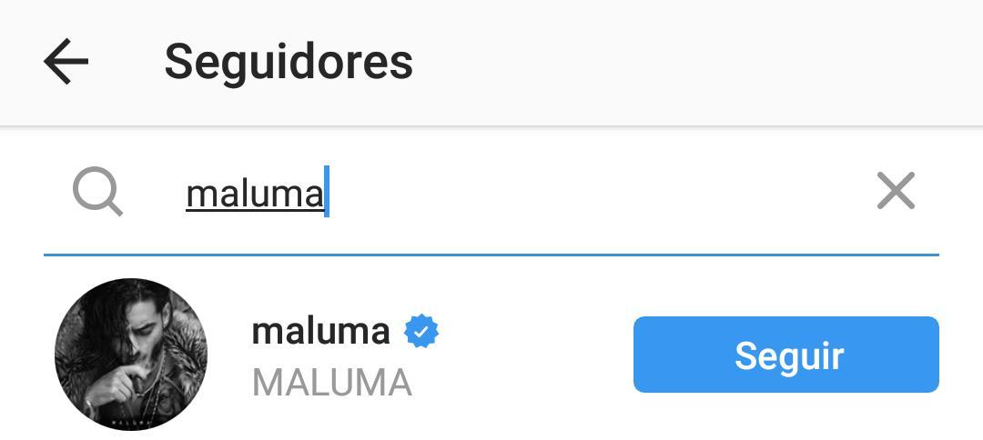 Maluma entre os seguidores de Anitta no Instagram