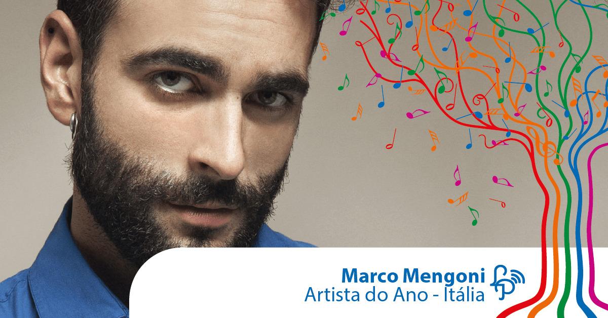 Marco Mengoni é o artista do ano na Itália