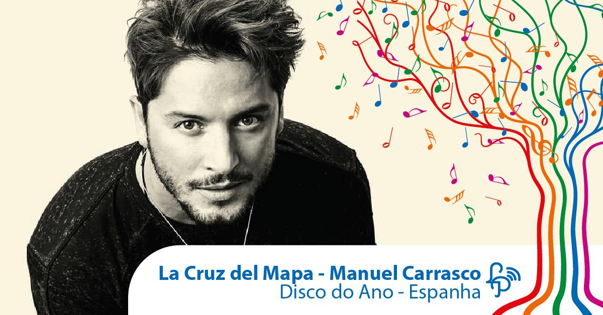 La Cruz del Mapa, do Manuel Carrasco, é o disco do ano na Espanha