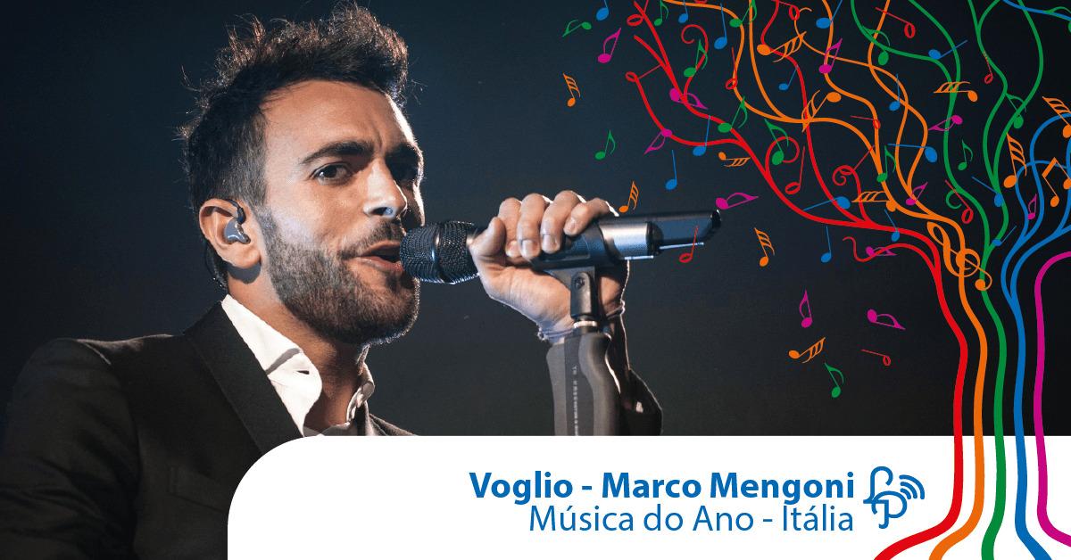 Voglio, do Marco Mengoni, é a música do ano na Itália