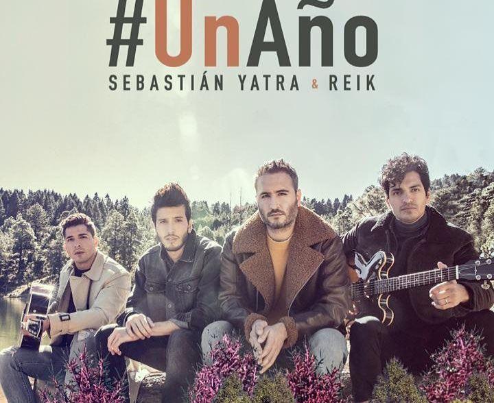 Capa do single Un Año, do Sebastián Yatra com o Reik