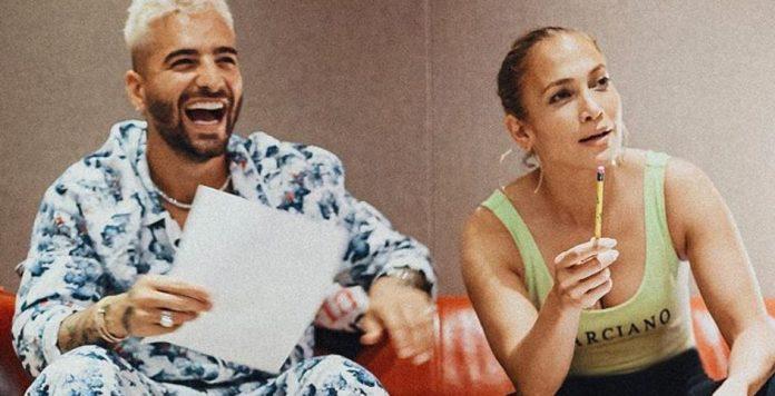 Maluma e JLo gravam música juntos